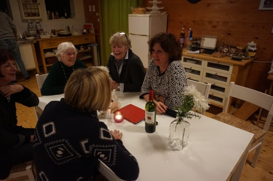 Groepsaccommodatie-Friesland-ladies onder elkaar