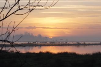 Groepsaccommodatie-Friesland-zonsondergang